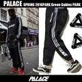 Palácio Skates Moletom Calças Hip Hop Fleece Inverno Calças Quentes Legal Listrado calças Basculador homens