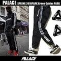 Palace Skateboards Sweatpants Pants Hip Hop Fleece Winter Warm Pants Cool Striped Jogger trousers men