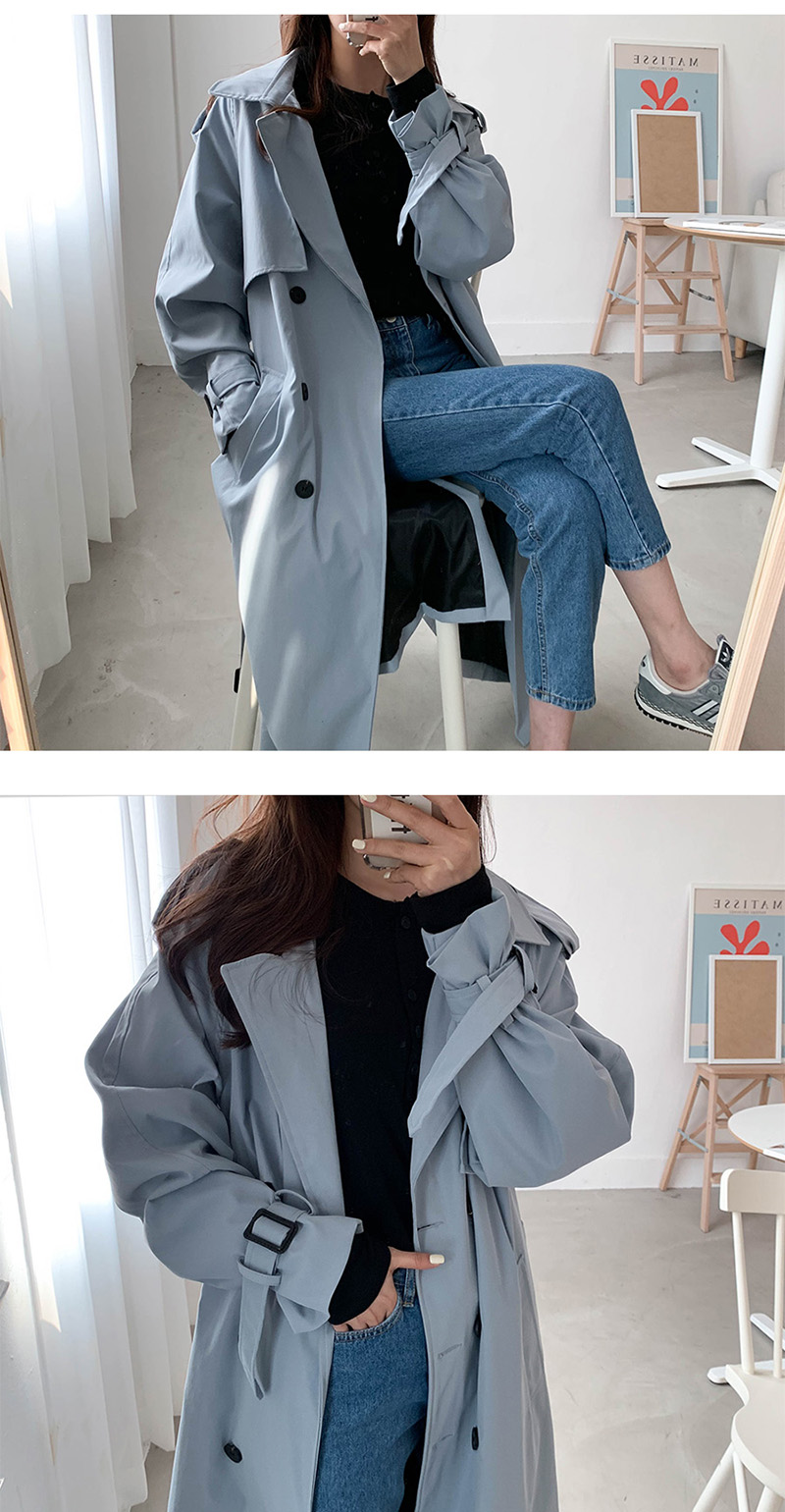 19 New Autumn Winter Women's Coat Korean Windbreaker Female Plus Size Double Breasted Ladies Long Chic Trench Coats 10