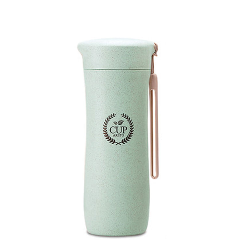 GFHGSD Creative Real New Protein Shaker Water Bottle Wheat Straw - Kitchen, Dining and Bar - Photo 5