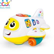 Avión De Juguete con Luces HUILE JUGUETES 6103 Bebé Juguetes Electrónicos y la música de los Niños Early Learning Juguetes educativos para Niños 12 mes +