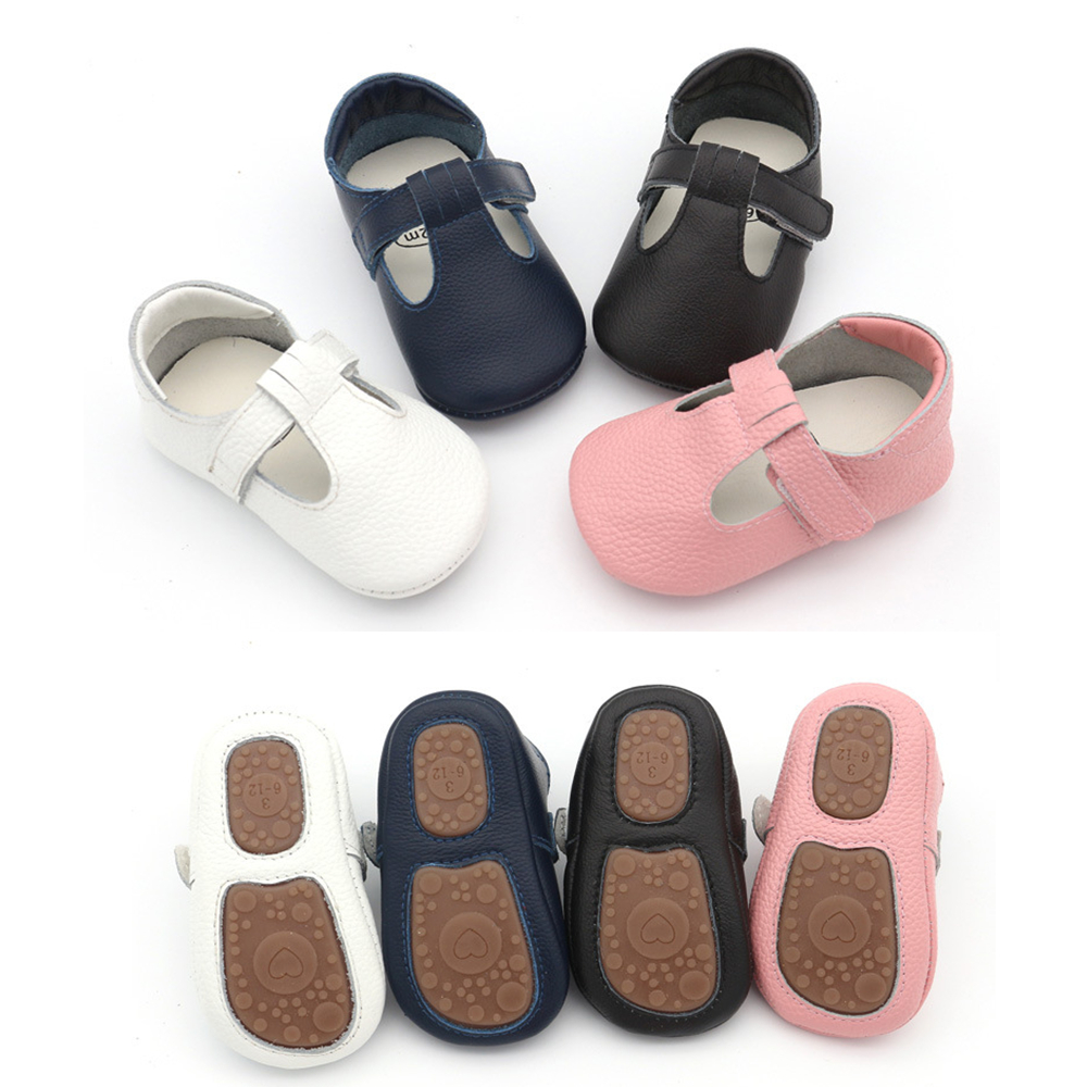 New Baby Shoes Genuine Leather First Walkers Non-slip Hard Bottom Toddler Baby Moccasins Baby Girls Shoes