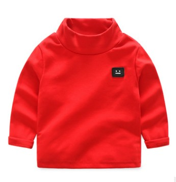 High quality Winter Autumn boy girls brand turtleneck sweatshirts high-necked fashion Cotton Bottoming shirt baby kid clothing