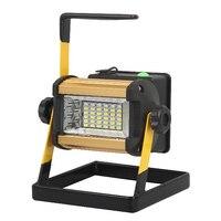 50w 36 2400lm Lâmpada Led Portátil recarregável Holofote Spotlight Flood Mancha Trabalho Light Para Outdoor Camping Lâmpadas Com Carregador