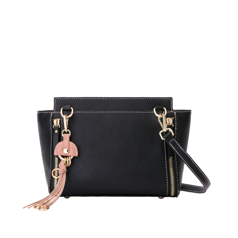 British retro fashion new handbags High quality PU leather Women bag girl Shoulder Messenger Bag Tassel Female bag free shipping fashion new handbags high quality pu leather women bag british retro bucket bag lock chain shoulder female bag