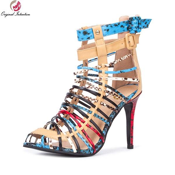 9063111153 Intenção Original Mulheres Lindas Sandálias de Alta Qualidade Peep Toe Fina  Agradável Sapatos de Salto Alto Amarelo Claro Mulher Plus Size EUA 4 15 em  ...