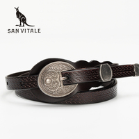 New Women Fashion Belts Genuine Leather Belt Woman Spring Summer Luxury Jeans Dress Female Top Quality