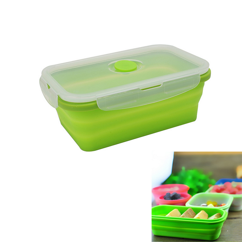 buy silicone collapsible portable lunch box bowl bento boxes folding food. Black Bedroom Furniture Sets. Home Design Ideas