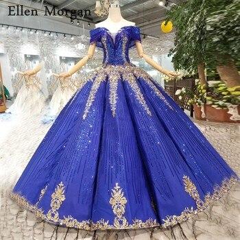 b97c54b2d95e59c Потрясающие королевские синие вечерние бальные платья, платья 2019,  кружевные Элегантные вечерние платья с открытыми плечами из Саудовской А..