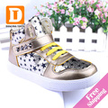 New Autumn Winter Fashion Children Boots Gold Patent Leather Kids Sneakers Sapato Infantil Kids Boots Children Shoes For Girls