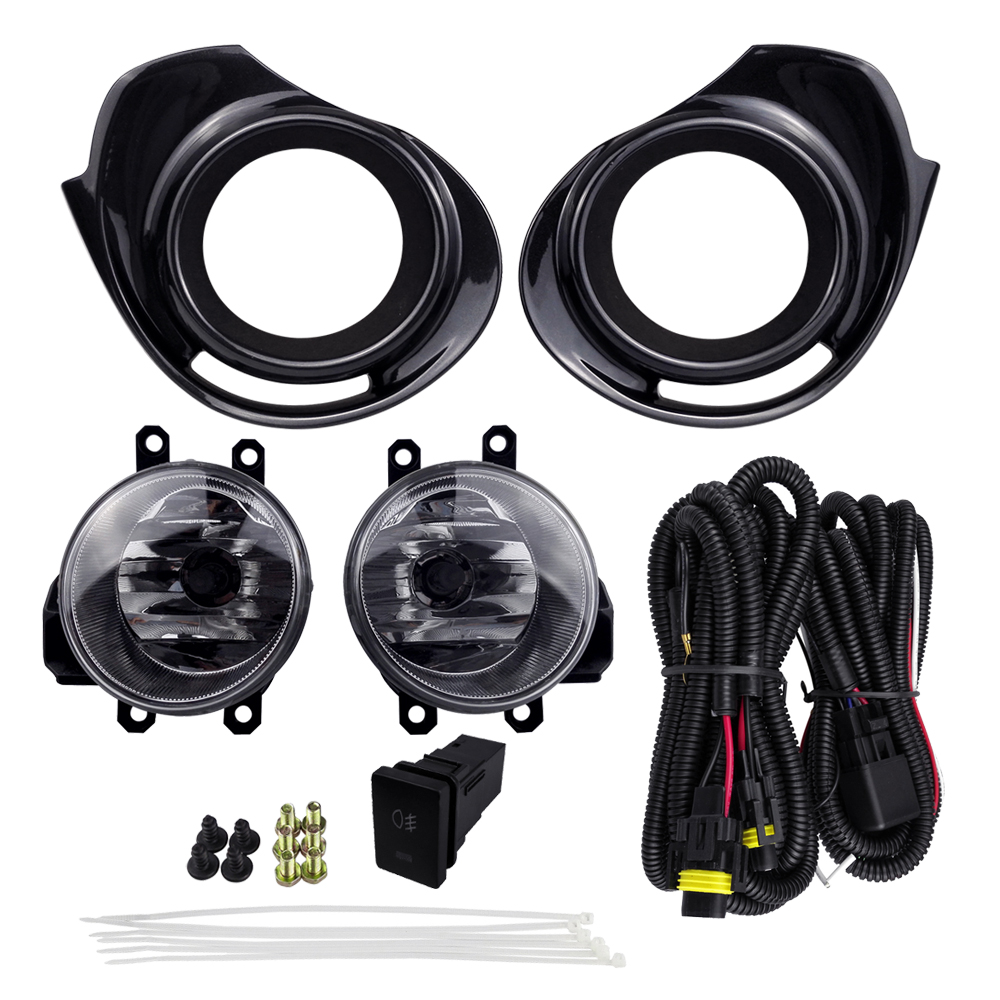 все цены на For TOYOTA AQUA 2015 PRIUS C 2016 4300K 12V 55W ABS Plastic Metal Fog Light Assembly Car Lights Halogen Lamp Accessories онлайн