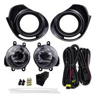 For TOYOTA AQUA 2015 PRIUS C 2016 4300K 12V 55W ABS Plastic Metal Fog Light Assembly Car Lights Halogen Lamp Accessories