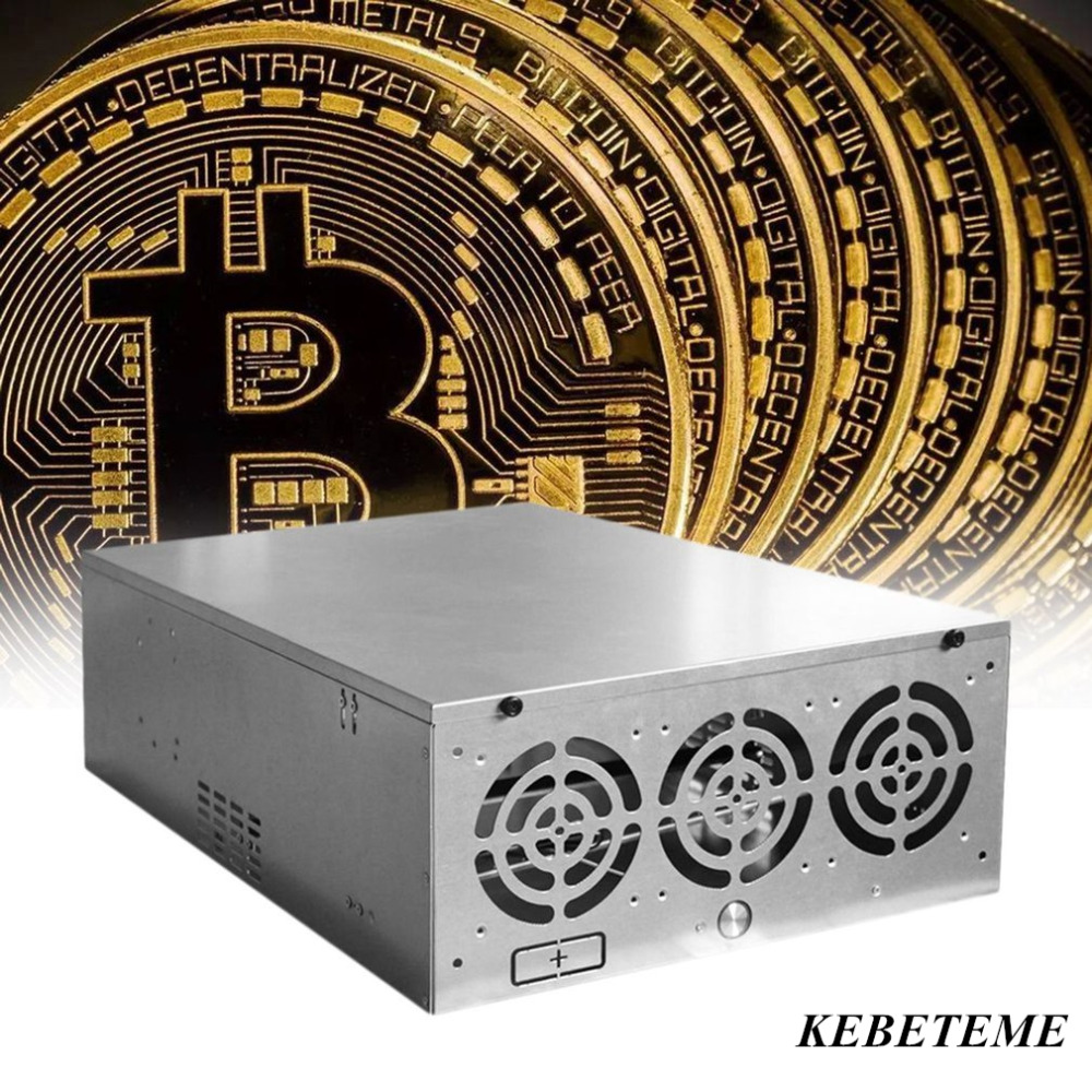Kebeteme Open Air Mining Frame Rig Graphics Case For Atx Fit 12 Gpu Casing Pc Mini Itx Mikro Ethereum Eth Etc Zec Xmr Magnalium Alloy 12cm Fans In Computer Cases Towers From
