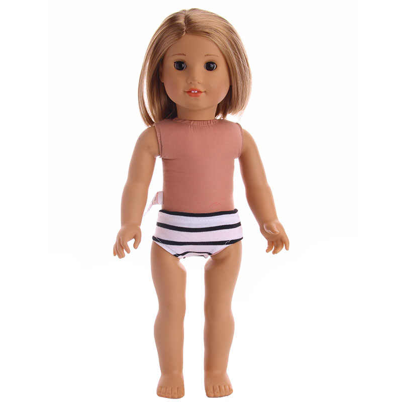 2 colors Handmade Doll Striped panties accessories  Fit 18 Inch  Doll &43cm New Born Baby  Clothes