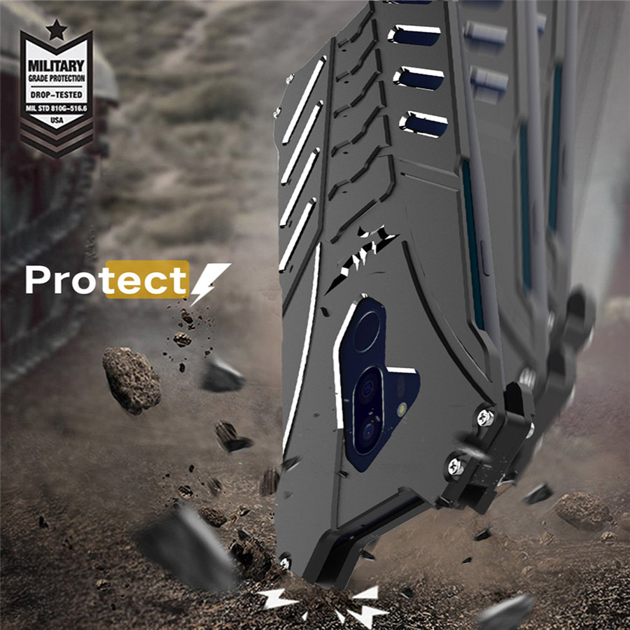 Cool Alloy Case For LG G7 Metal Armor Case On LG G7 ThinQ Protective Cover G7 R-JUST Batman Bumper Kickstand Funda