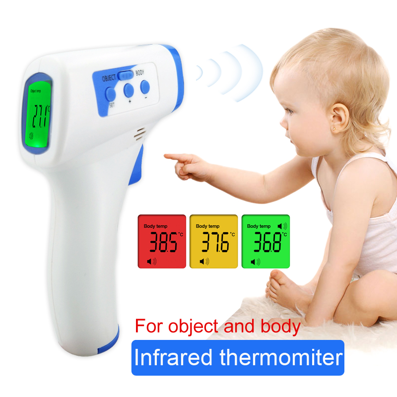 FDA Мути фикцию Детские/взрослых Цифровой termomete инфракрасный Лоб Средства ухода за кожей Термометр Пистолет Бесконтактный Температура прибор для измерения