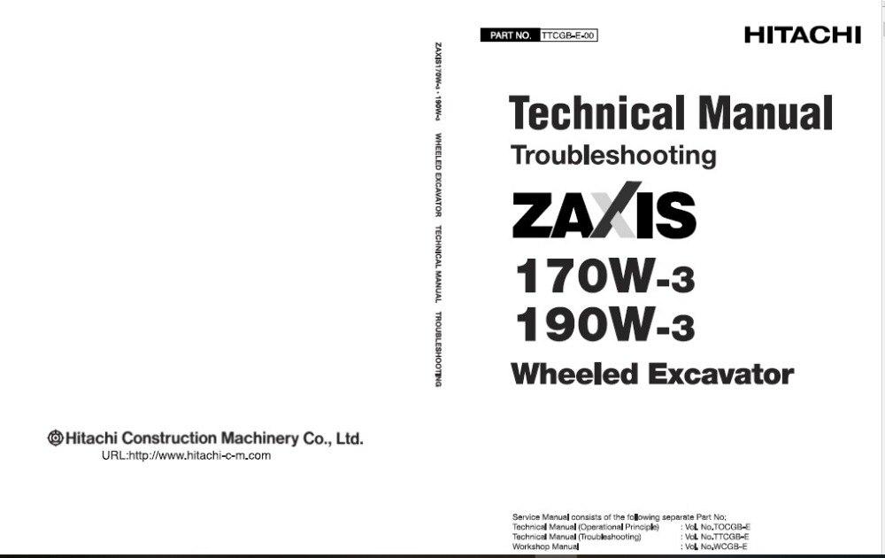 Hitachi Full Excavator Shop Manual Set 2019