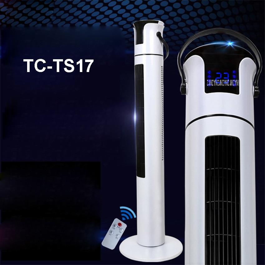 TC-TS17 220V/50hz Household desktop floor fan Mute fanless fan timing fan remote control vertical tower fan 3 files Speed 1-12 h free shipping parts timing pitch three page fan head desktop mute fans