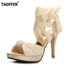 Women Sandals Sexy Ankel Strap Dancing High Heel Sandals Fashion Party Wedding Shoes For Woman Footwear Plus Size 32-45 PA00841