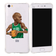 funny anime NBA player Silicon cover case For xiaomi mi5 fundas Ultra Thin Soft Transparent phone bag Back shell cover capa