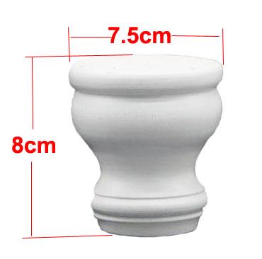 4 7.5 センチメートル固体松ゴム木製家具足テレビキャビネット茶テーブル脚 H: 1