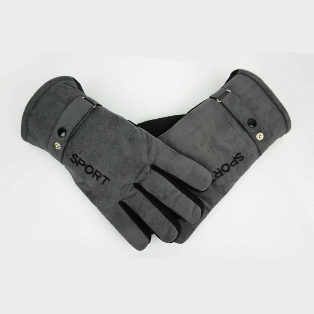 Driving gloves winter - Online Shop Winter Gloves Men Driving Glove Man Thermal Winter Sports Winter Mittens Anti Slip Gloves For Men Thermal Faux Leather Gloves Aliexpress