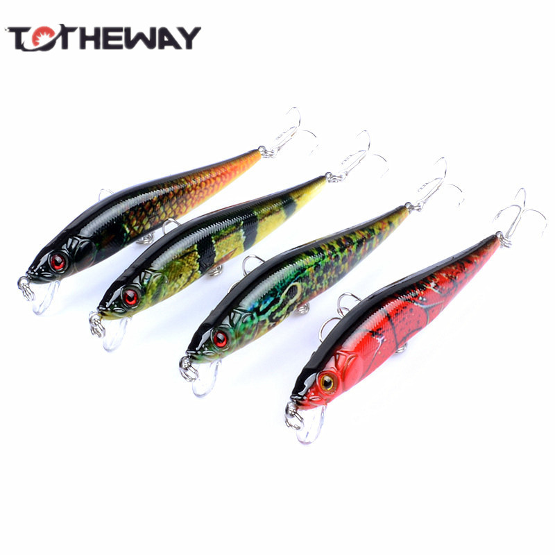 1PCS Lifelike 10cm 10g Minow Wobblers Hard Fishing Tackle Swim bait Crank Bait Bass Fishing Lures 4 Colors fishing tackle 1pcs lifelike 8 5g 9 5cm minow wobblers hard fishing tackle swim bait crank bait bass fishing lures 6 colors fishing tackle