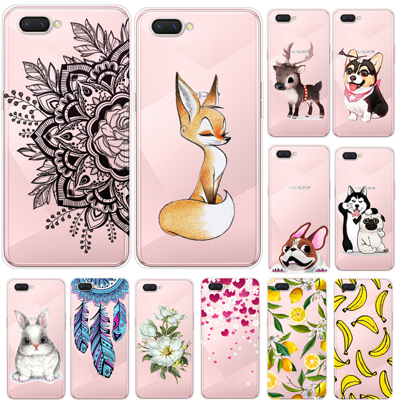 Cases For Oppo A3S Phone Cover Soft Silicone Colorful Printing Back Case Cover For Oppo Realme C1 C 1 A3S A 3S Oppo A5 Fundas