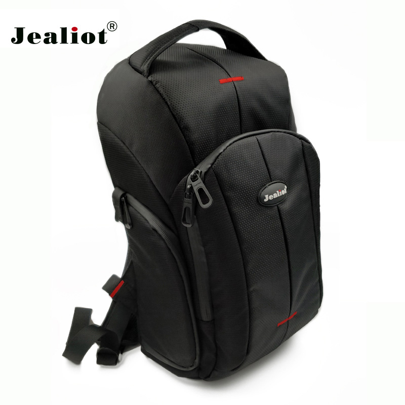 Jealiot Professional Backpack Camera Bag SLR DSLR digital Travel Bag waterproof shockproof Video Photo lens case for Canon Nikon jealiot waterproof slr dslr bag for camera bag shoulder digital camera video foto instax photo lens bag case for canon 6d nikon