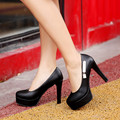 4 цветов женщины туфли на высоком каблуке круглым носком шпильках туфли на высоком каблуке черно-розовый белый бежевый обувь женщина мягкой кожи сша размер 4 - 10.5