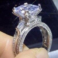 10CT оригинальный бренд Новые сверкающие Роскошные ювелирные изделия 925 серебро принцесса 5A CZ Эйфелева башня обручальное кольцо для влюбленн