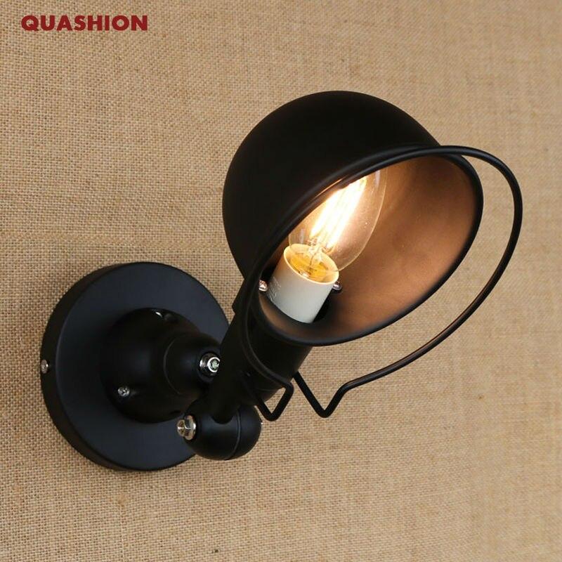 Applique murale classique en fer noir Arandela Art décoration applique murale lumière LED réglable Style Vintage Loft applique murale éclairage