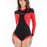 Women Wetsuits One Piece Swimsuit Long Sleeve Rash Guards 2018 Women Plus Size Patchwork Zipper Diving Suit Surfing Swimwear