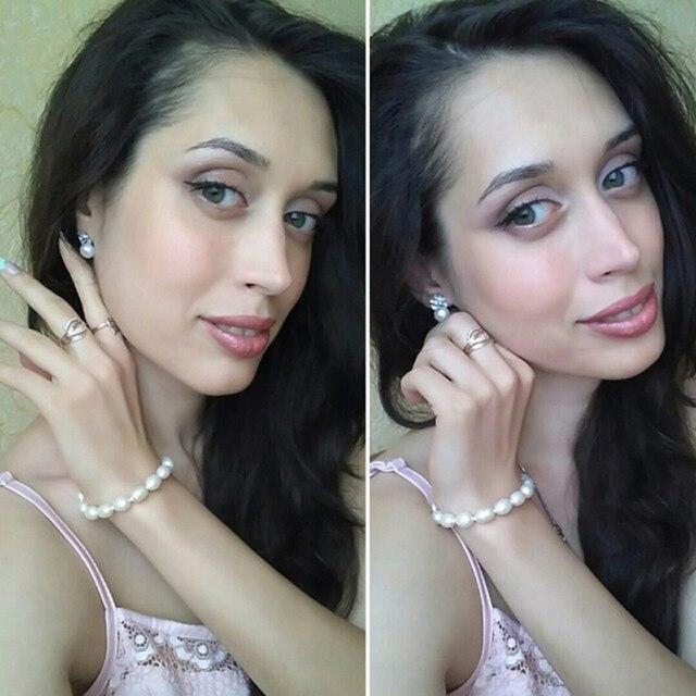 Fiore Della Perla naturale orecchini, Perla con 925 Sterling Silver orecchino, regalo di Compleanno Accessori Gioielli orecchini per le donne Bianche