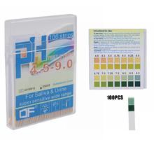 100 шт. лакмусовые полоски лакмусовая бумага PH4.5-9.0 Щелочная кислота тестовая бумага для воды слюны мочи тест ing PH Тест-метр