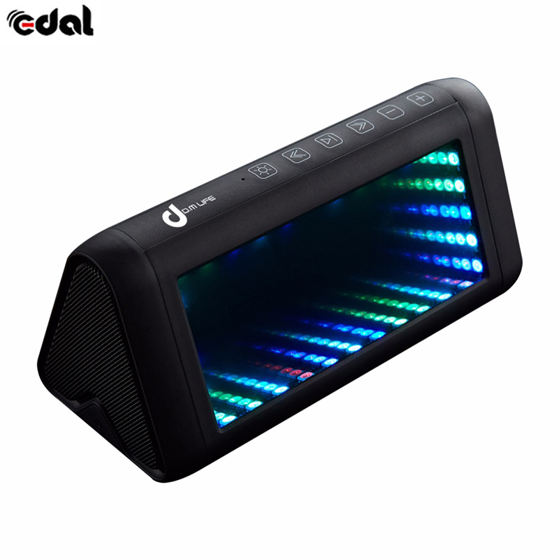 EDAL Portable Outdoor Home Stereo Wireless Bluetooth Speaker with Microphone and Virtual 3D Bright Lights oxlasers cool virtual wireless bluetooth projection laser keyboard with mouse function and bluetooth speaker free shipping