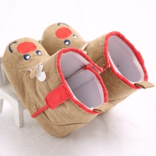 New Arrival Baby Boots Christmas Deer Design Baby Toddler Boys Girls Cute Snow Boots Prewalker Shoes
