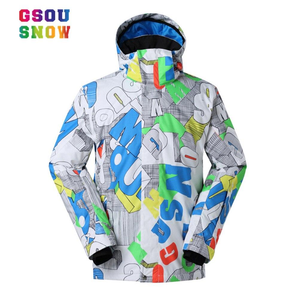 Prix pour Gsou Snow ski veste hommes snowboard veste haute qualité Imperméable À L'eau 10000 ski veste en plein air masculins neige ski snowboard manteau