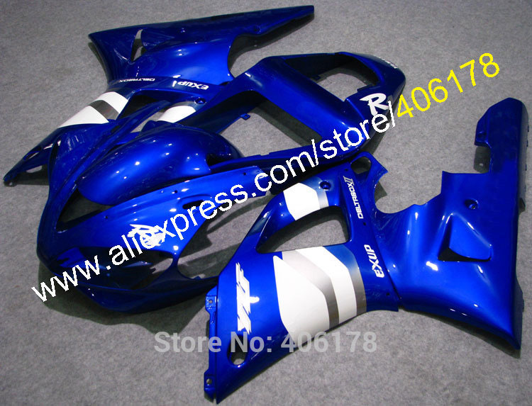 US $407 55 5% OFF|Hot Sales,Yzf1000 R1 00/01 Fairing Set For Yamaha Yzf R1  2000/2001 Yzf R1 Blue White Sportbike Fairings Kit (Injection molding)-in