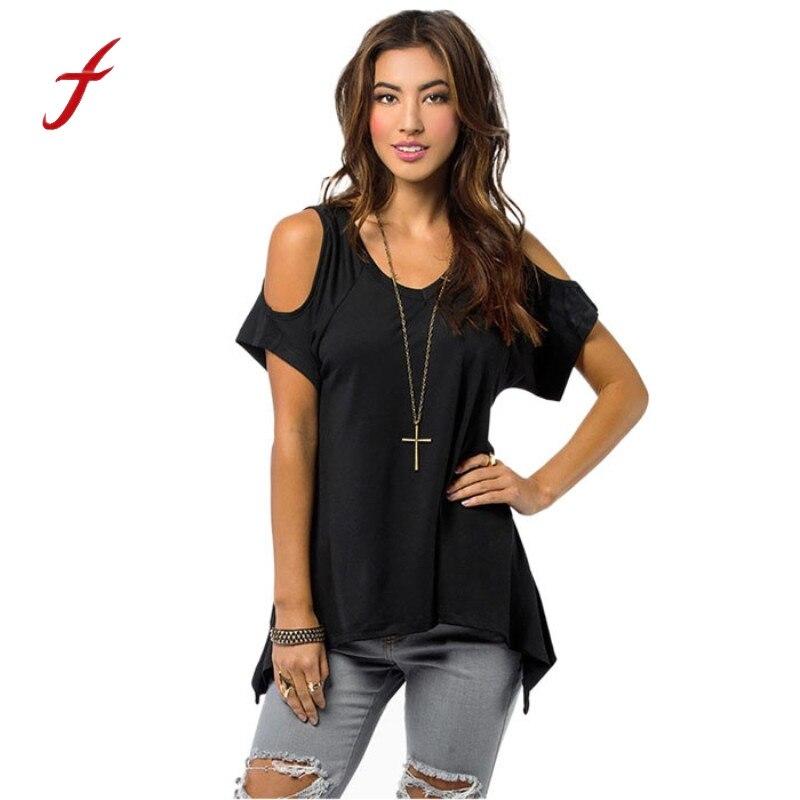 summer short sleeve female t-shirts Off Shoulder top women summer 2017 sexy branded t shirt women