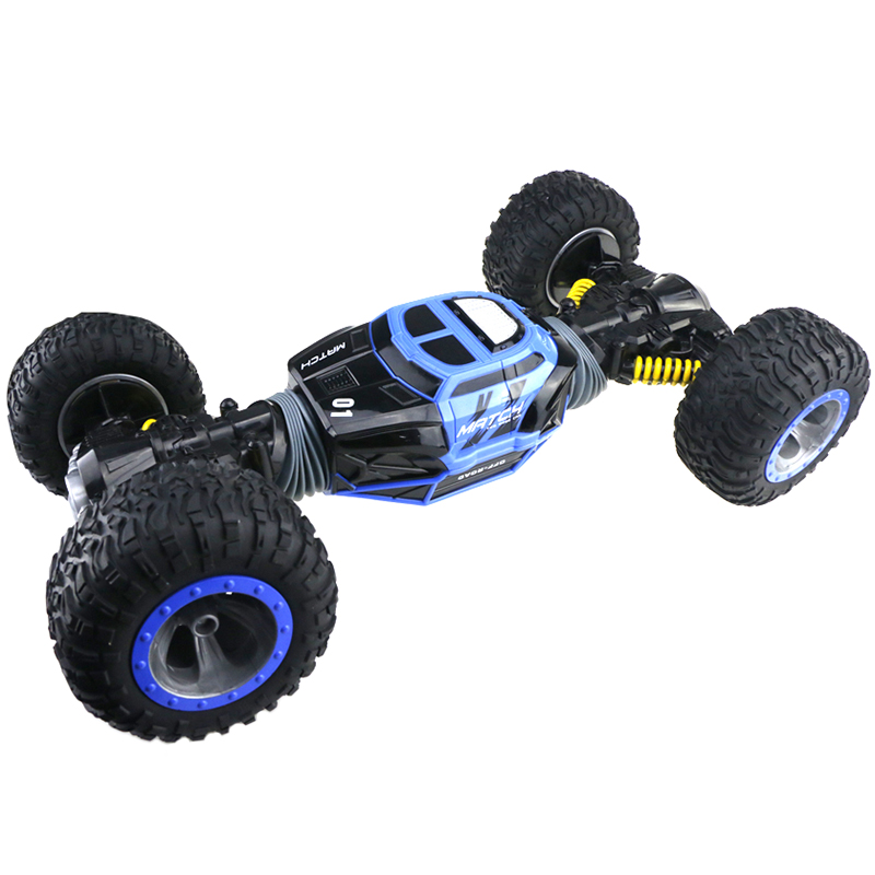 1/8 RC Stunt Car Wireless Electric Double-Sided 4WD RC Off Road Flexible Steering Car With Remote Controller Two Modes