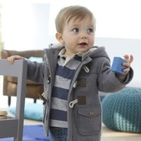 Hot Sale 2014 New Winter Fashion Button Boys Child Casual Thicken Overcoat Children Outerwear Boy Jacket