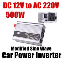 Wholesale DC 12V to AC 220V 500W Modified Sine Wave USB charger Car Power Inverter converter voltage transformer