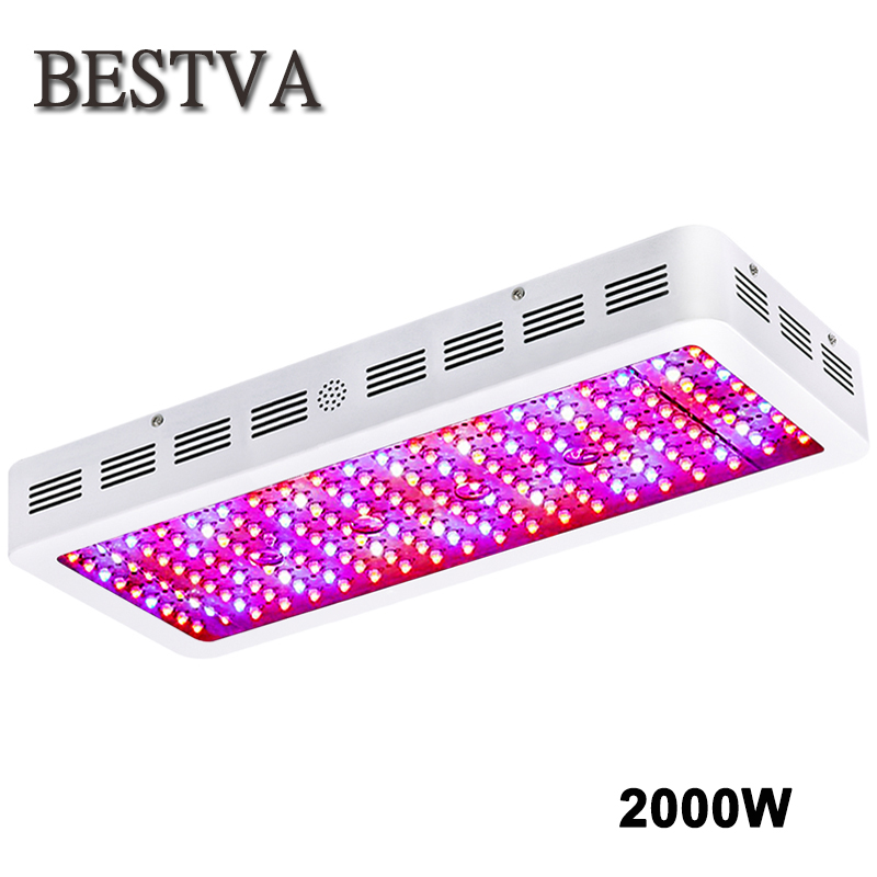 BestVA 2000W LED grow light full spectrum double chips grow lamps for indoor plants grow light hydroponics greenhouse grow tent цены