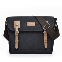 2018 New Arrival Large Casual Travel Shoulder Bags For Men Leather Vintage Crossbody Bags High Quality