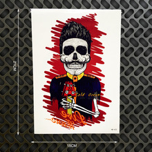 1PC Punk Rock Star Designs Temporary Tattoo Body Art Flash Tattoo Stickers GHB-423 Fake Removable Tatoo Blood Skull Head Pattern