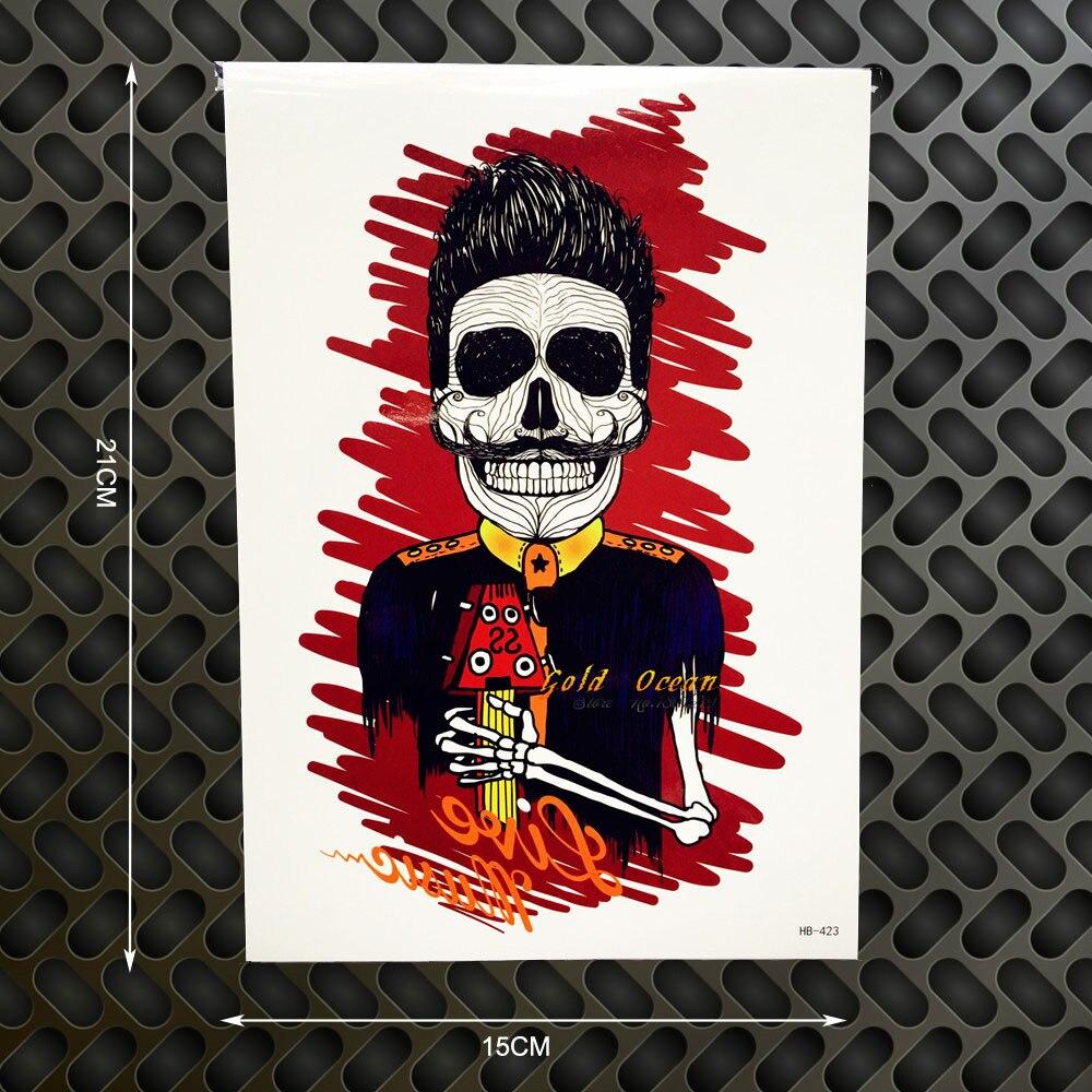1PC Punk Rock Star Designs Temporary Tattoo Body Art Flash
