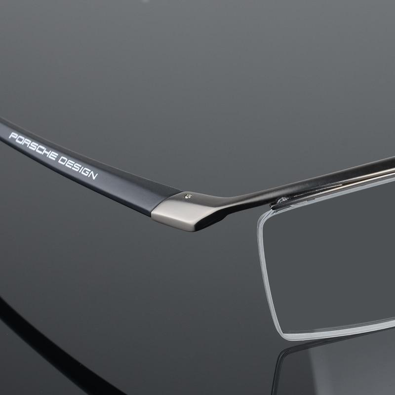 2017 baru pria kacamata bingkai titanium optik setengah bingkai - Aksesori pakaian - Foto 6