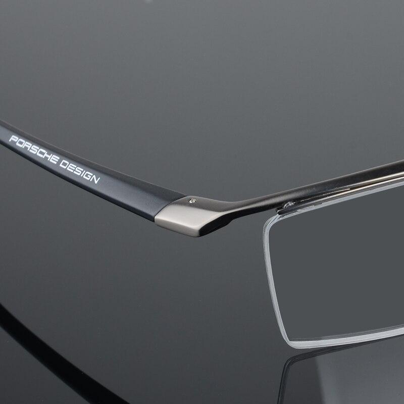 2017 nouveau hommes lunettes cadre titane optique demi-cadre lunettes lunettes carré vintage classique oculos de grau 8189 - 6
