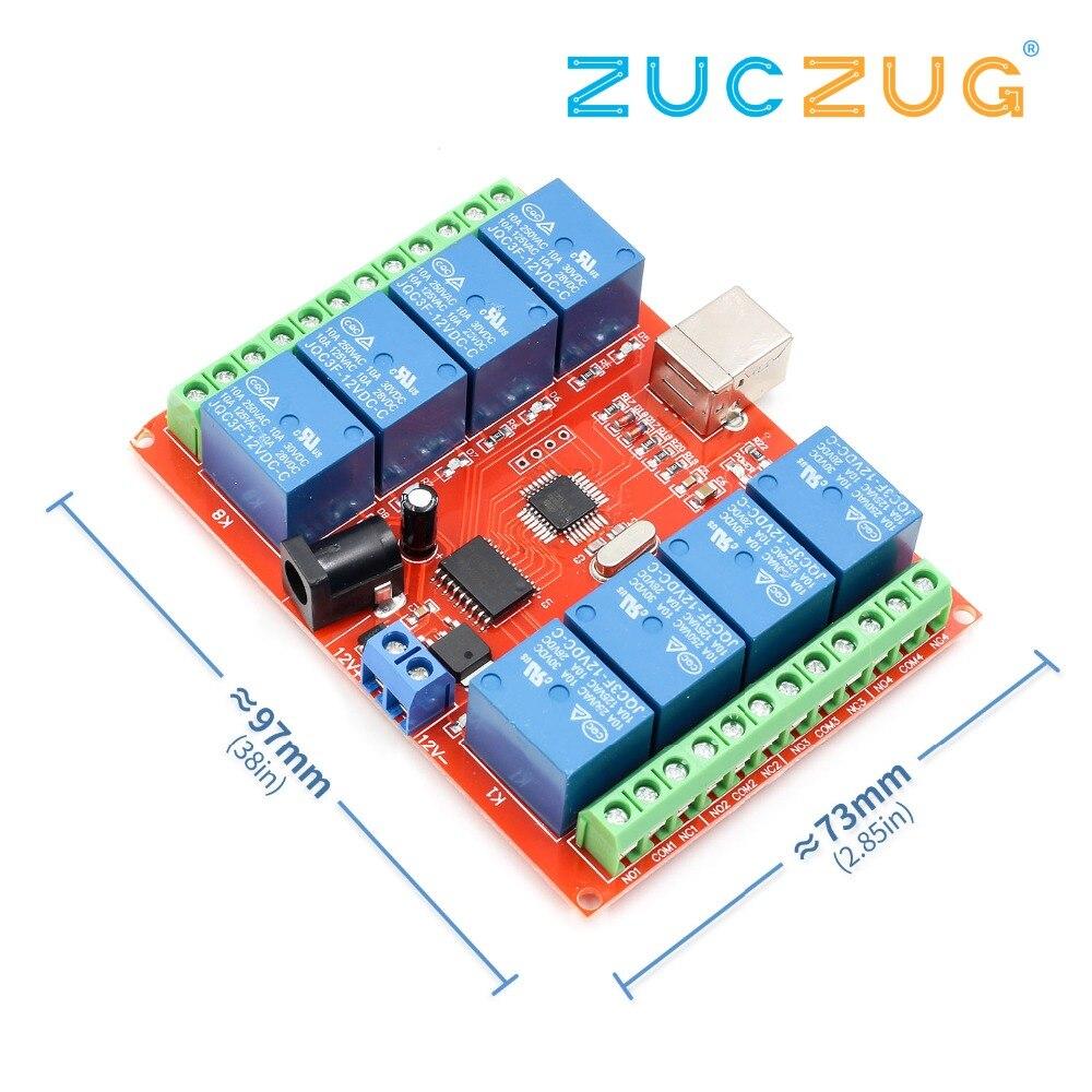 Smart Electronics 8 Channel DC 12V Relay Module /Computer USB Control Switch Dri